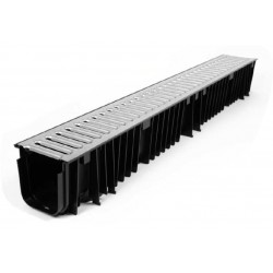 polypropylene channel with polypropylene or galvinised grate